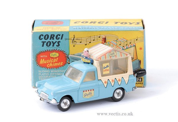 "3010: Corgi No.474 Ford Thames ""Walls Ice-cream"" Van"