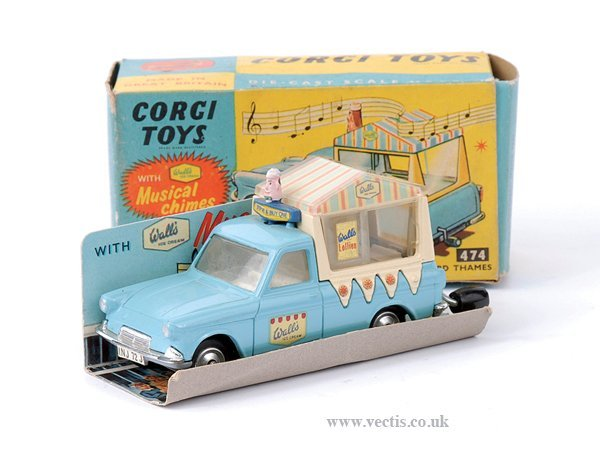"3011: Corgi No.474 Ford Thames ""Walls Ice-cream"" Van"