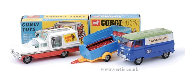 3014: Corgi No.109 Pennyburn Workmans Trailer & Others