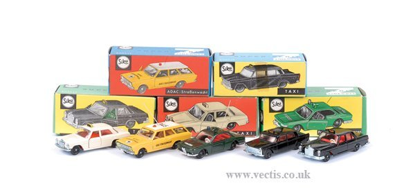 "4009: Siku No.V201 Fiat 1800 ""Taxi"" & Others"