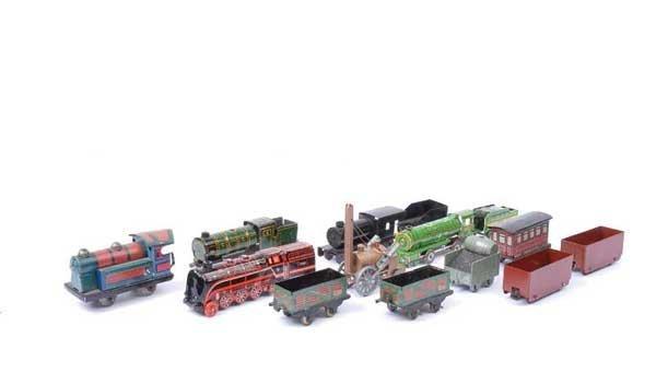 4019: British & German Made Miniature Tinplate Trains