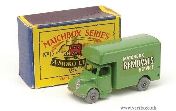 """1004: Matchbox No.17b Removals Van """"Matchbox Removals"""""""