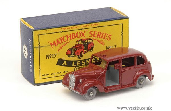 "1005: Matchbox No.17c Austin Metropolitan ""Taxi"""