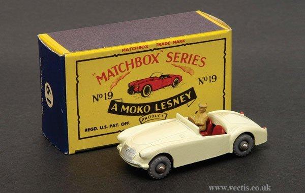 1007: Matchbox No.19b MGA Sports Car