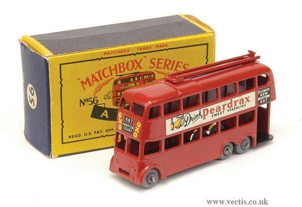 "1023: Matchbox No.56a London Trolleybus ""Peardrax"""