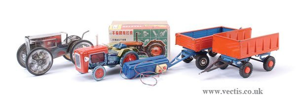 2022: A Group of Tinplate Tractor and Trailers