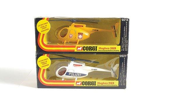 """3002: Corgi No.9214 Hughes 369 Helicopter """"ADAC"""""""