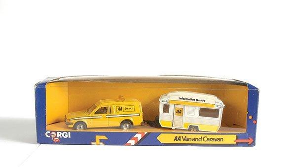3004: Corgi No.C14 AA Van and Caravan Set