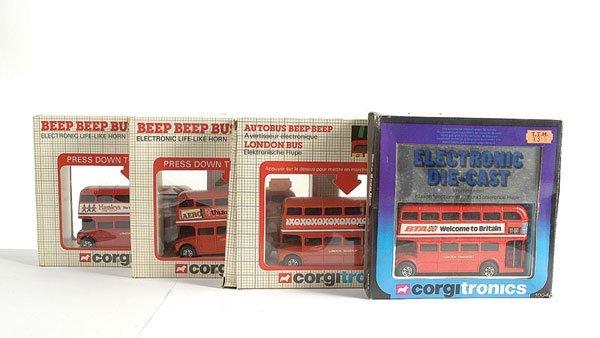 3007: Corgi No.1004 Beep Beep Bus x 4