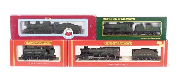 4009: OO Gauge - A Group of GWR Green Steam Locos