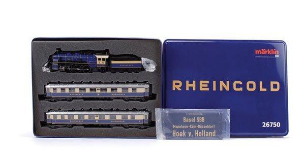 4166: Marklin 26750 Rheingold Blue & Cream Train Pack