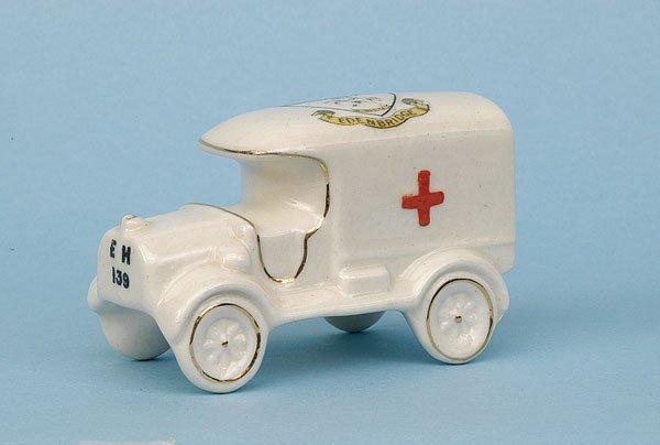 607: Arcadian WWI Ambulance [3.5 x 2.25 ins] Ca 1915