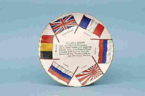 Arcadian Plate [6 ins dia]. Circa 1914-15.