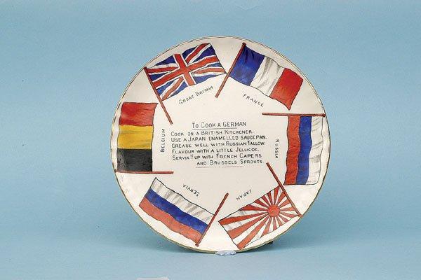 615: Arcadian Plate [6 ins dia]. Circa 1914-15.