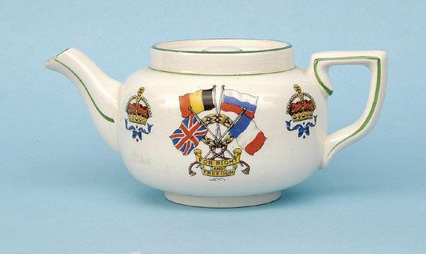 617: Small Tea Pot [ht - 2.75 ins] Circa 1914-18