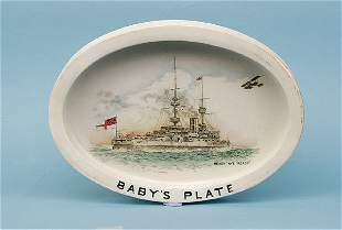 Shelley oval Baby's Dish [8.5 x 6 ins] ca 1912
