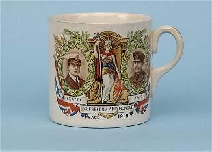 Transfer printed china mug [dia 3 ins] ca 1919