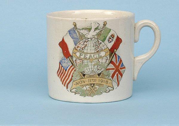 623: Transfer printed china mug [dia 3 ins] ca 1919