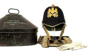 890: p1902 Officer Blue Cloth HS Helmet/Accouts-RAMC