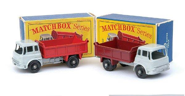 2007: Matchbox No.3 Bedford Tipper Truck - a pair