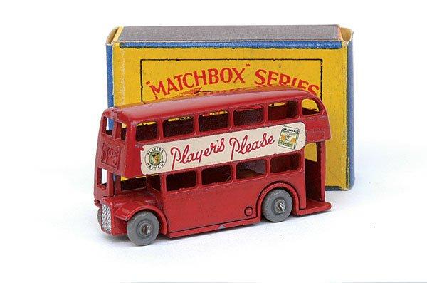 "2010: Matchbox No.5 London Bus (57mm) ""Players Please"""
