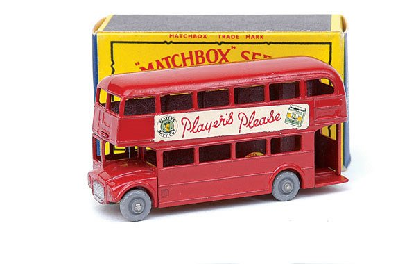 """2011: Matchbox No.5 Routemaster Bus """"Players Please"""""""