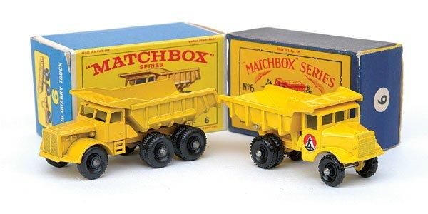 2012: Matchbox No.6 Euclid Lorry Truck - a pair