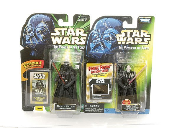 3012: A pair of signed Star Wars Action figures
