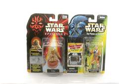 3015: A pair of signed Star Wars action figures