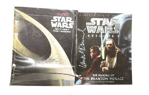 A pair of Signed Star Wars Items