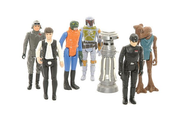 3023: A collection of loose Star Wars action figures