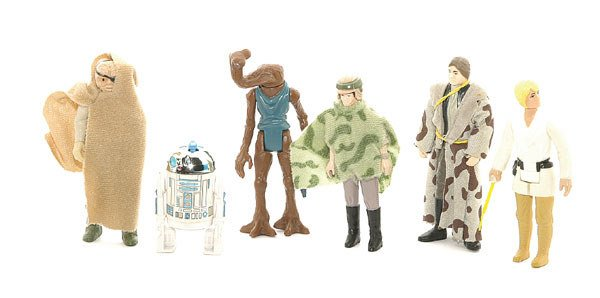 3024: A collection of loose Star Wars action figures