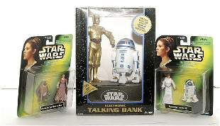 A group of more recent Star Wars Collectables