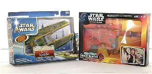 A group of more recent Star Wars vehicles