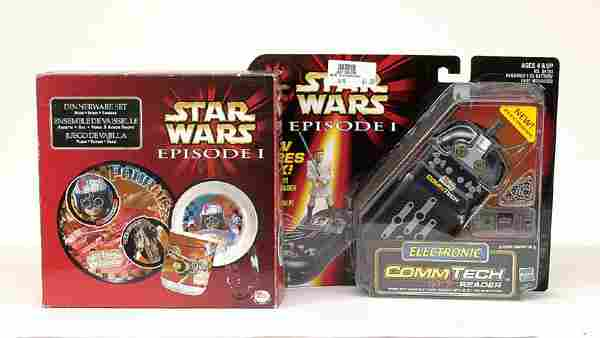 A group of more recent Star Wars Episode 1 items
