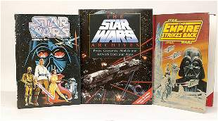 A large selection of Star Wars books