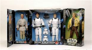 Group of more recent Star Wars poseable figures