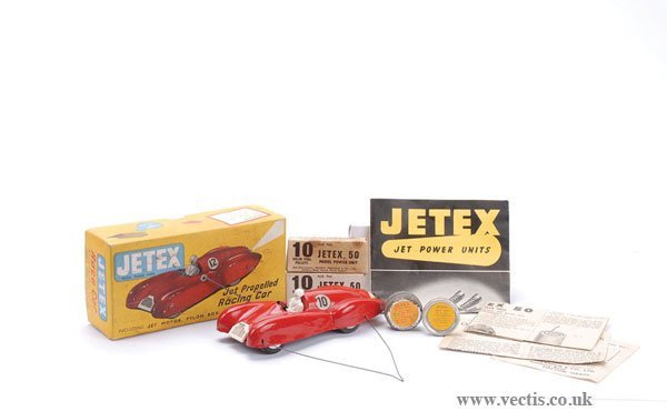 1011: Jetex UK Jet Propelled Racing Car with Leaflets
