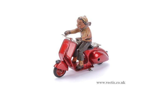 1216: Ingap (Italy) Tinplate Clockwork Scooter