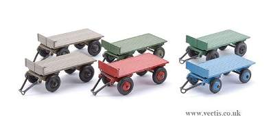 2127: Dinky No.25G Post-war Trailers x 6