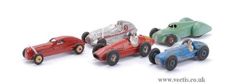 2712: French Dinky - A Group of Racing Cars