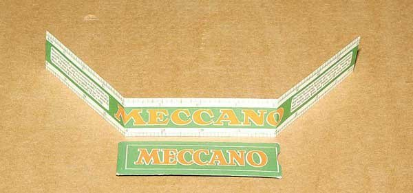 "3049: Meccano Card 12"" Ruler"
