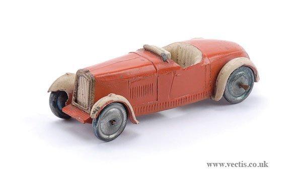 "1: Dinky Pre-war No.22A Open Sports Car ""Hornby"""