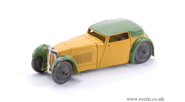 """2: Dinky Pre-war #22B Closed Sports Coupe """"Hornby"""""""