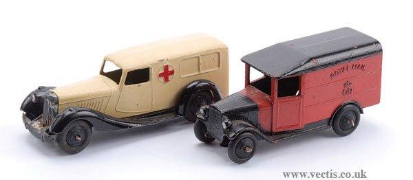 1004: Dinky Post-war Royal Mail Van and Ambulance