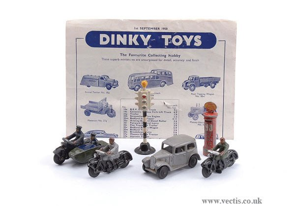 1022: Dinky Post-war Motorcycles, Saloons & Others