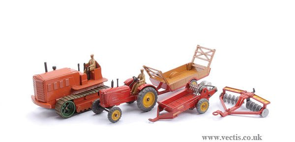 1023: Dinky Massey Harris Tractor & Others