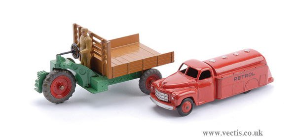 "1024: Dinky ""Petrol"" Studebaker Tanker and Motocart"
