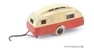 1681: Dinky Pre-war No.30G Caravan Trailer