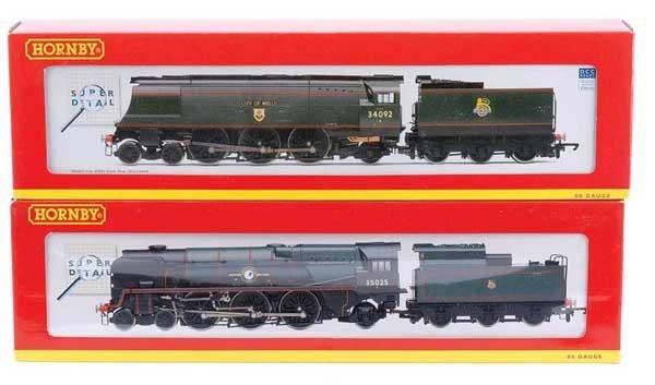 4018: Hornby 4-6-2 BR (SR) Green Steam Locos x 2